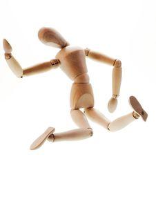 Free Wooden Man Falling Stock Photo - 5878630
