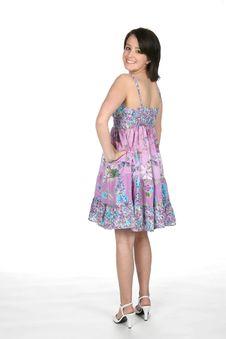 Teen Looking Over Her Shoulder Stock Photography