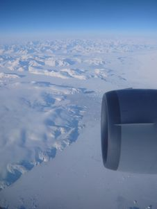 Free Flying Over Greenland Stock Photo - 5878800