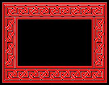Free Red Celtic Knot Frame With Bla Stock Photo - 5878900