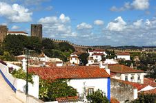 Free Portugal Obidos; A Medieval City Royalty Free Stock Photo - 5879275