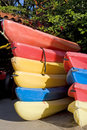Free Stacks Of Colorful Kayaks Stock Images - 5885774