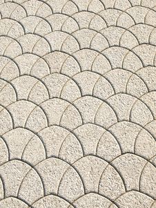 Scalloped Pattern - Walking Path Royalty Free Stock Photos