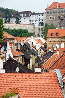 Free Cesky Krumlov Red Roofs 1 Royalty Free Stock Photo - 5880795