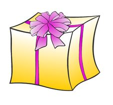 Free Gift Pack With Bow Royalty Free Stock Image - 5880796