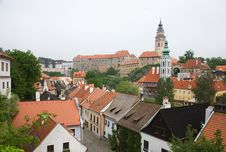 Cesky Krumlov Red Roofs Stock Photography
