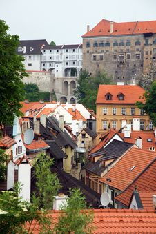 Free Cesky Krumlov Red Roofs Stock Photography - 5880962