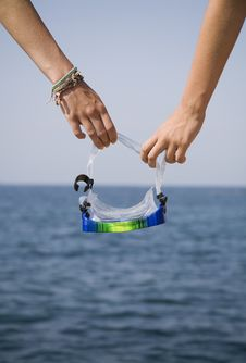 Free Goggles In Hand Stock Image - 5881601
