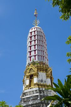 Pagoda In A Thai Temple Stock Photography