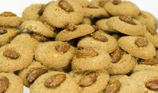 Free Oatmeal Cookies With Almond Stock Photography - 5882392