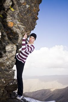 Free Young Climber Royalty Free Stock Photo - 5883165