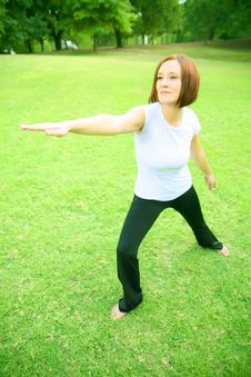 Free Caucasian Woman Doing Yoga Stock Images - 5884104