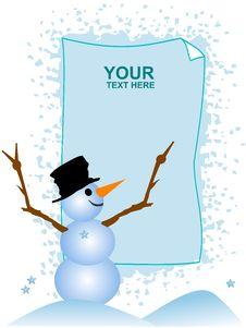 Cute Snowman Stock Photo