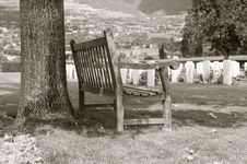 Free Cemtery Bench Stock Image - 5884661
