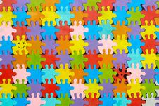 Background From Colorful Puzzles Royalty Free Stock Photo