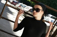 Free Beautiful Woman In Sunglasses And Kerchief Royalty Free Stock Photos - 5885758