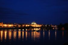 Free View Of Prague By Night Royalty Free Stock Photography - 5886587