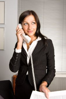 Free Beautiful Businesswomen Speaking With Somebody Royalty Free Stock Photo - 5886665