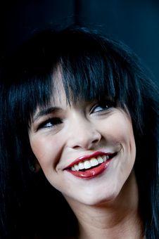 Talya Smiling Portrait Stock Image