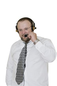 Free Male Operator With A Smile Stock Photos - 5887673