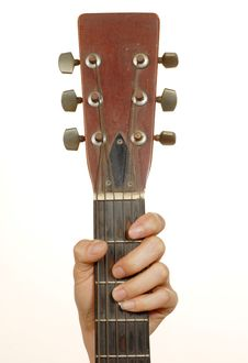 Free Women Hand Is Holding The Guitar Stock Photo - 5887770