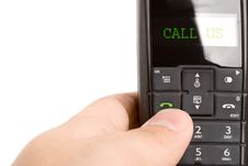 Free Black Dect Phone Handset In  Hand Stock Images - 5888024
