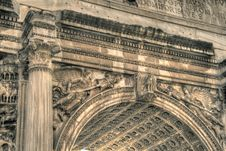 Free Arch Of Titus Royalty Free Stock Image - 5888496