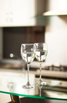 Two Cups For Wine Royalty Free Stock Images