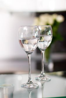 Two Cups For Wine Royalty Free Stock Photos