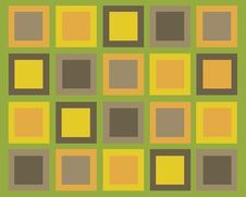 Retro Symmestrical Squares Background Royalty Free Stock Photography