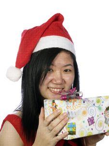 Free Christmas Santa Girl Stock Photo - 5888890
