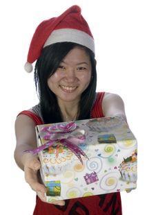 Free Christmas Santa Girl-1 Stock Image - 5888901