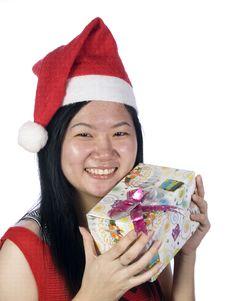 Free Christmas Santa Girl-2 Stock Photography - 5888942