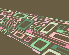 Retro Distorted Rectangles Background Stock Photo