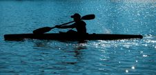 Free Rower (kayaker) On The Water Royalty Free Stock Image - 5889486