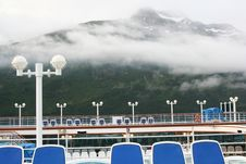 On A Cruise Ship Deck In Whittier, Alaska Royalty Free Stock Image