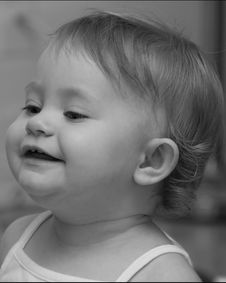 Free Cute Baby Girl Laughing Royalty Free Stock Image - 5889566