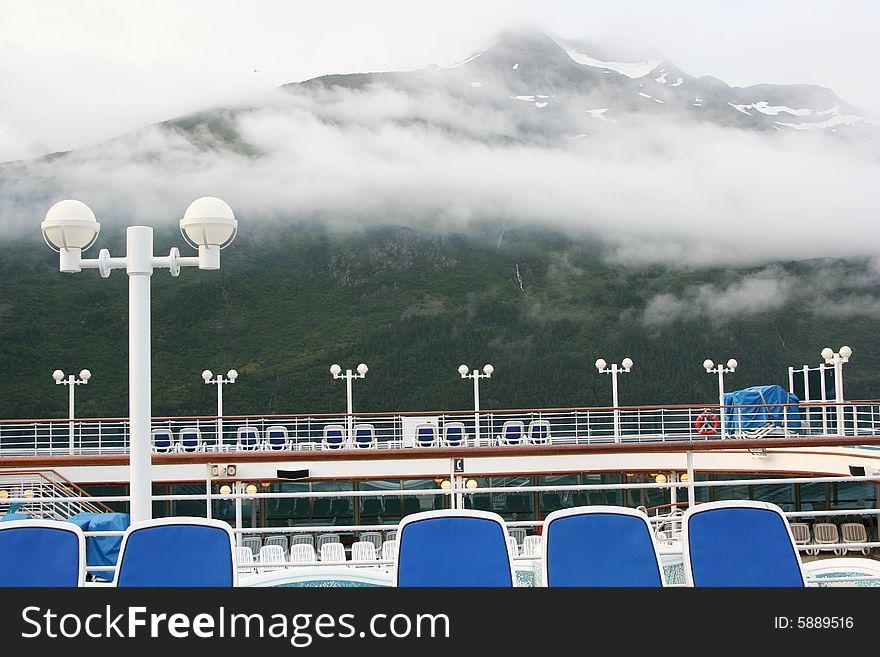 On a cruise ship deck in Whittier, Alaska