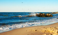 Beach With Waves Royalty Free Stock Image