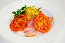 Carrot Salad With Bacon And Tomatoes