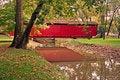 Free Covered Bridge Early Autumn Stock Image - 5896621