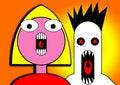 Free Little Girl Yelling Cartoon Head 5 Stock Photography - 5898882