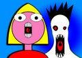 Free Little Girl Yelling Cartoon Head 6 Stock Images - 5898884
