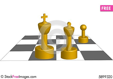 Free Vector 3D Chess Game Stock Photo - 5899320