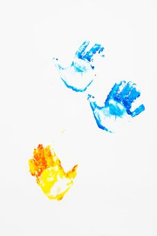 Free Hand Prints On The Wall Royalty Free Stock Photo - 5890105