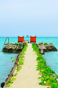Free Maldives, Welcome To Paradise! Stock Image - 5890191