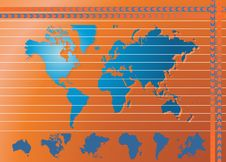 Free World Map Background Stock Images - 5891514