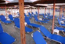 Parasol And Deckchair Royalty Free Stock Photo