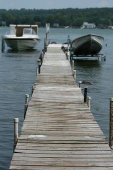 Boats In Dock Stock Image