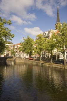 Free Picturesque View Of A Dutch Canal Stock Photos - 5892083